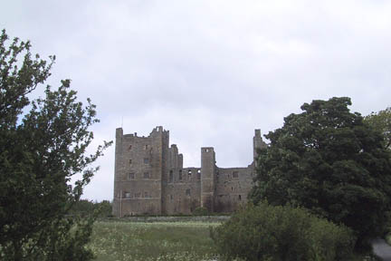 Front approach of Bolton Castle