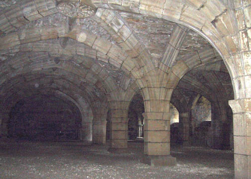 Vaulted chamber underneath the Great Hall