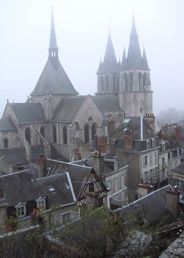 View of old Blois from the ramparts of the castle