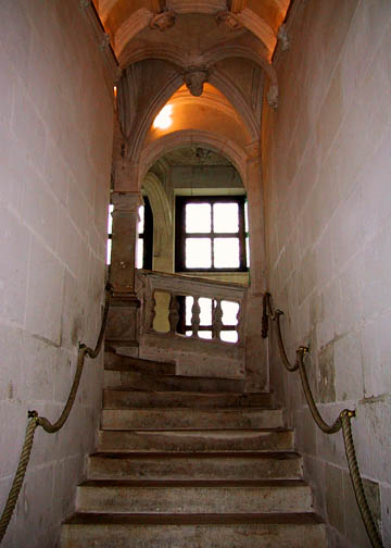 The staircase leading to the first floor