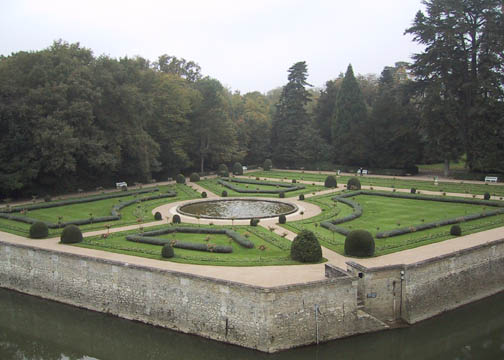 Catherine de Medici's Gardens to the right of the entrance