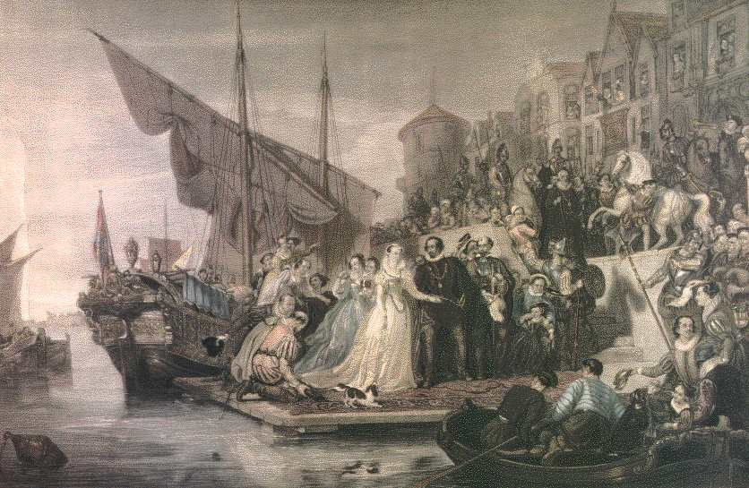 Mary's landing in Leith in August 1561 by the Scottish painter, Sir William Allan (1782-1850)