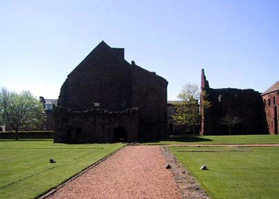 The Abbot's House with main church to the right