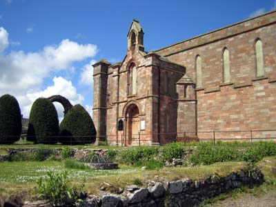 Coldingham Collegiate Church from the south-east