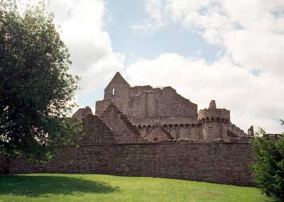 Outside the castle showing outer wall