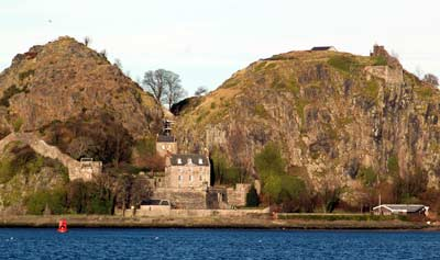 Dumbarton Rock with its twin peaks