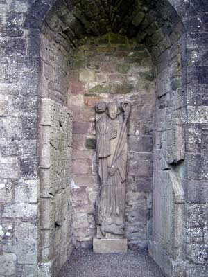 Statue of a murdered abbot