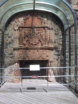 A rare example of a 17th century fireplace