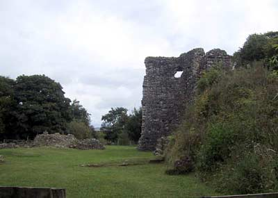 Another view of the inside of the ruin, tower on the right