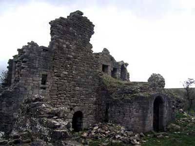 View of the inside of the castle
