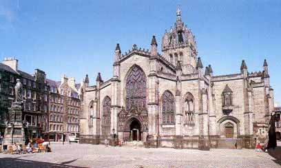 St Giles Cathedral where Knox preached in 		Edinburgh